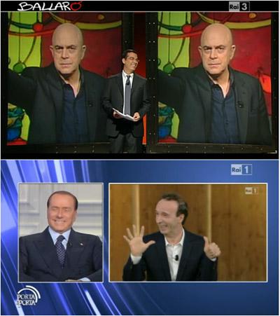 Ballarò vince la serata, nuovo record stagionale per Porta a porta con Berlusconi