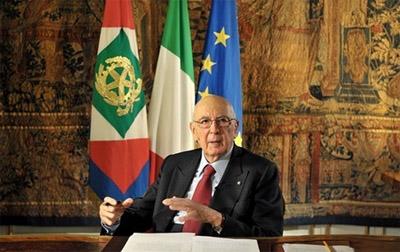 Giorgio Napolitano nell'ultimo messaggio di fine anno