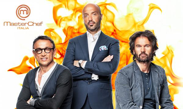 I tre giudici del talent culinario MasterChef Italia