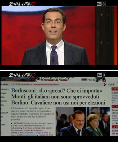 Le dimissioni di Monti e il ritorno di Berlusconi a Ballarò