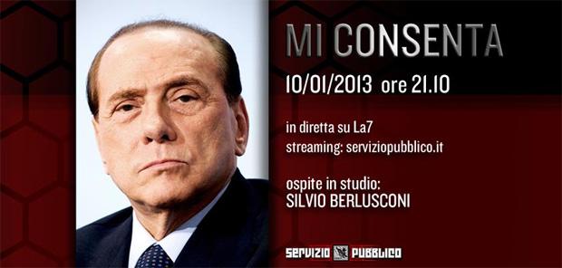 Berlusconi a Servizio Pubblico di Santoro