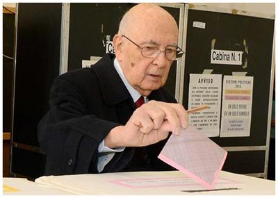 Napolitano al voto