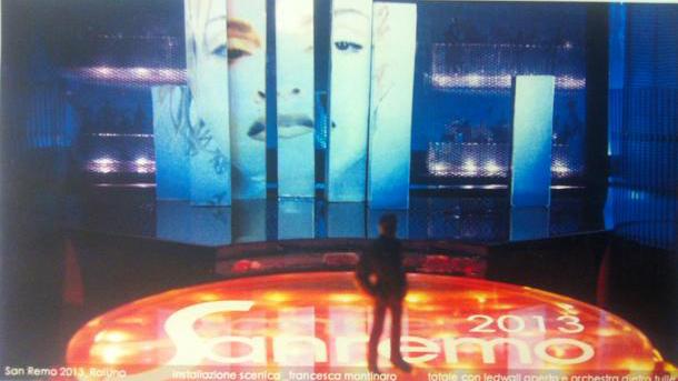 Sanremo 2013, la scenografia