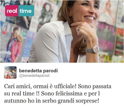 Benedetta Paroli sbarca a Real Time