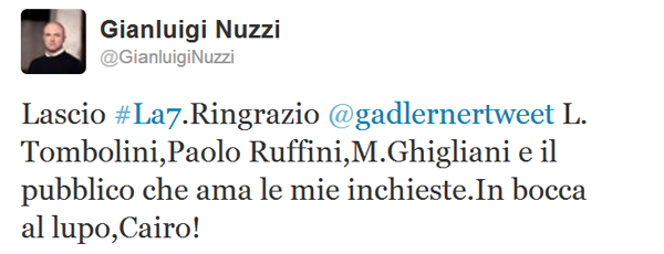 Tweet Gianluigi Nuzzi