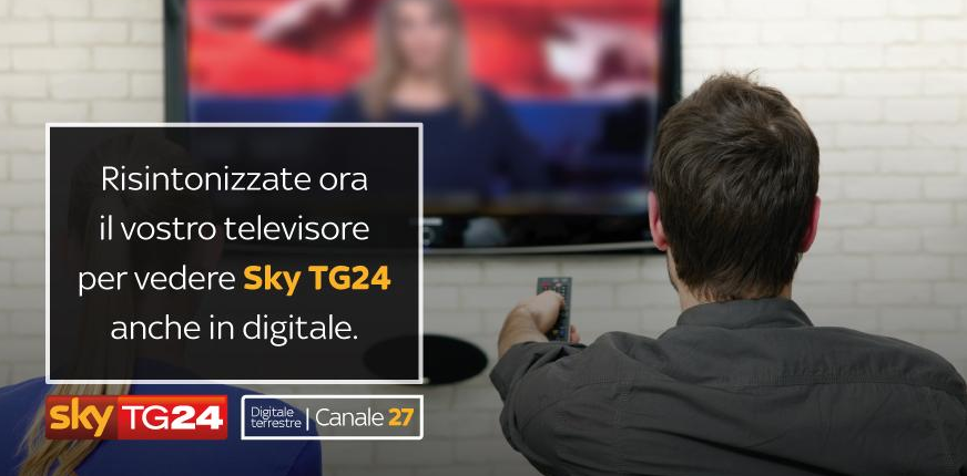 Sky Tg24 canale 27 digitale