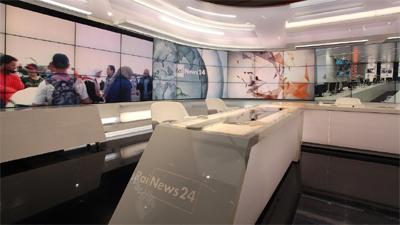 Il nuovo studio di RaiNews 24