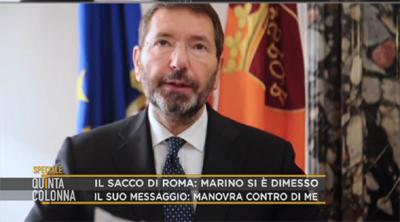 Le dimissioni di Marino a Quinta Colonna