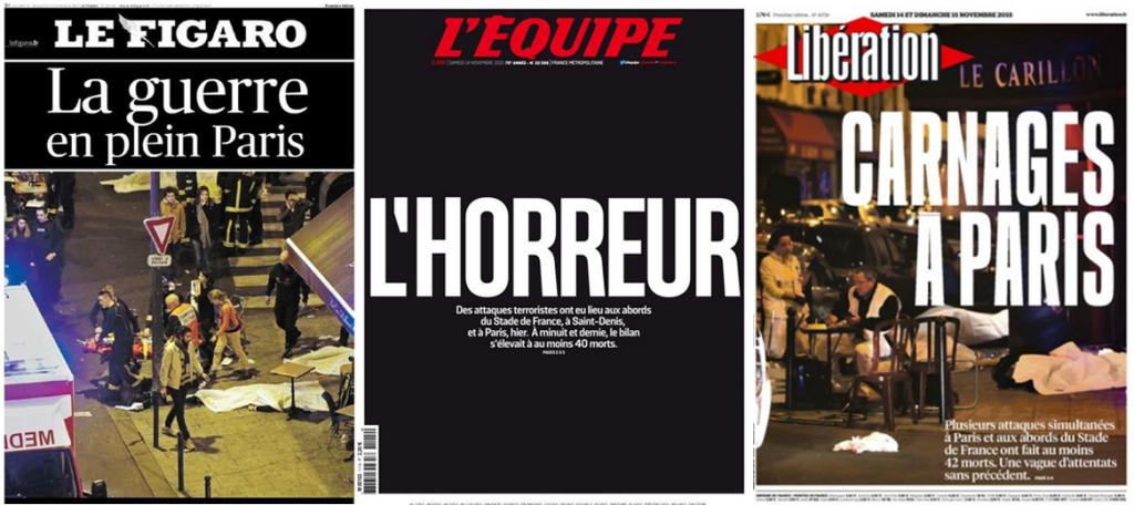 Attacco a Parigi: le prime pagine dei quotidiani francesi