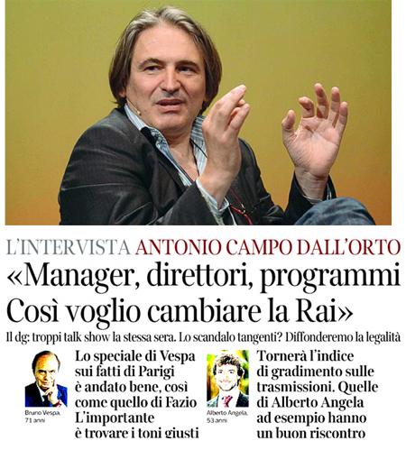 Intervista al dg Rai Campo Dall'Orto