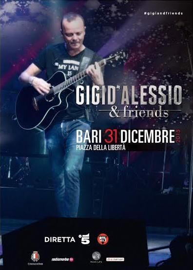 Gigi D'Alessio & Friends, in diretta su  Canale 5, RTL 102.5, Telenorba e Radionorba.