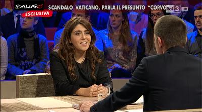 L'intervista di Francesca Chaouqui a Ballarò