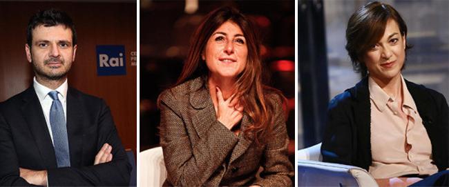 Nomine Rai Andrea Fabiano, Ilaria Dallatana, Daria Bignardi