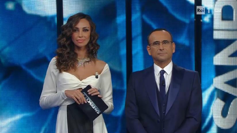 Sanremo 2016 Madalina Ghenea e Carlo Conti