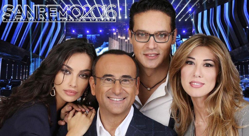 Il cast di Sanremo 2016: Carlo Conti con Gabriel Garko