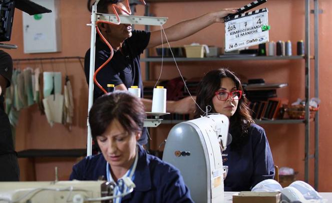 Sabrina Ferilli protagonista della nuova fiction di Canale 5 Rimbocchiamoci le maniche
